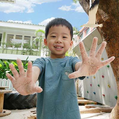 Tactile Sensory Play at our international kindergarten, Bangkok