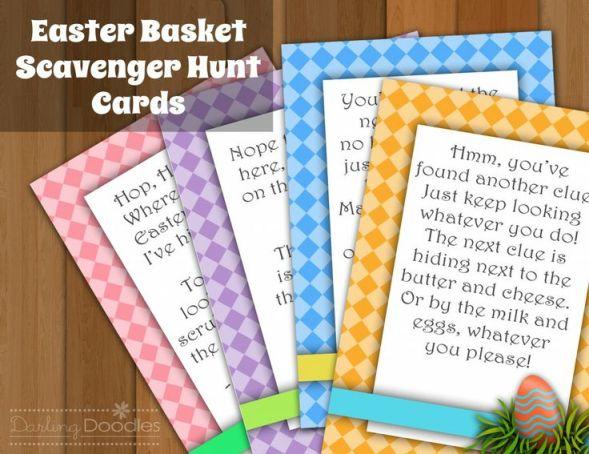 Easter Basket Scavenger Hunt